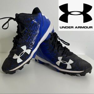 Under Armour Lead Off Low Baseball Cleats blk blue